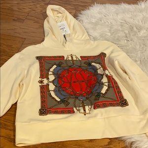 Zara sweatshirt with scarf design, size s